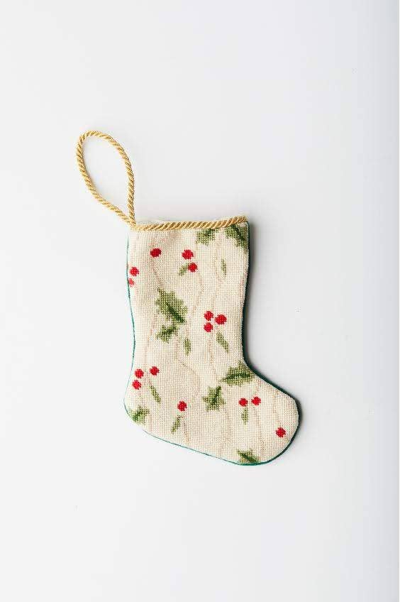 Holly and Ivy Bauble Stocking: Virginia Cheek