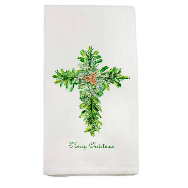 Christmas Cross Dish Towel