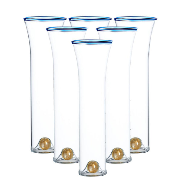 Golden Globe Champagne Set, Clear, Set of 6