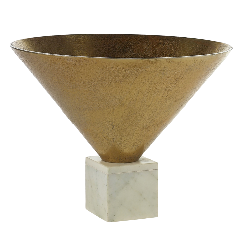 Metallic Gold Bowl on Marble Base
