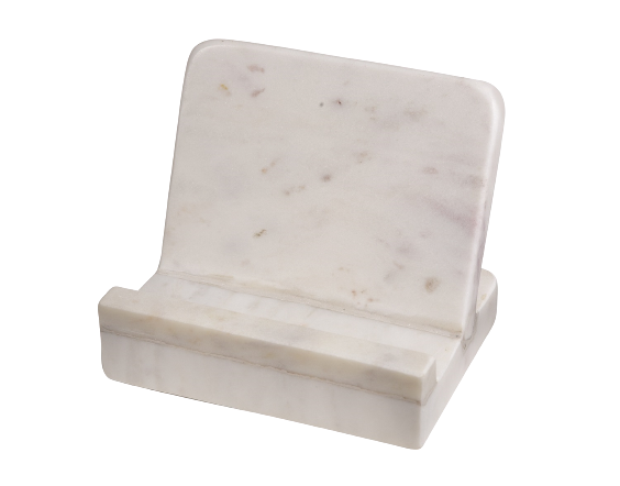 White Marble Cook Book Holder