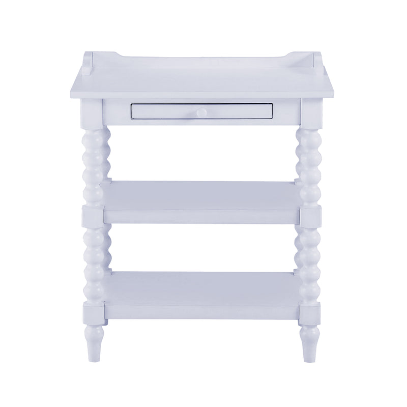 Spindle Leg Night Stand - Gray