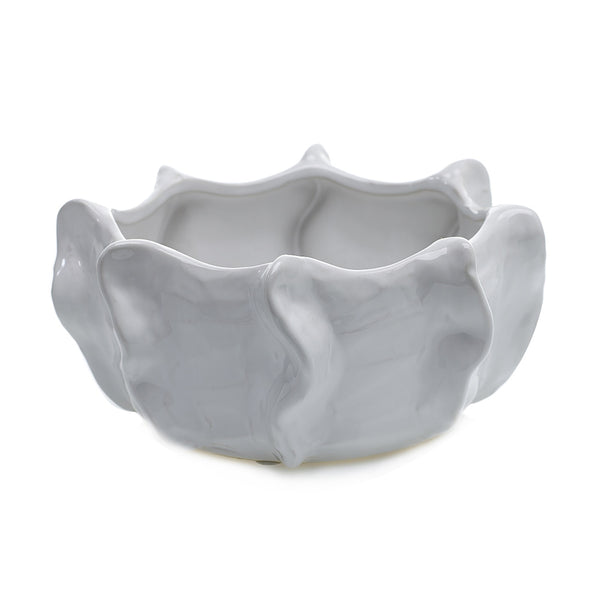 White Glazed Cache Bowl