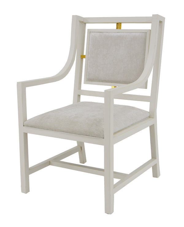 Francie Light Gray Dining Chair With Arms