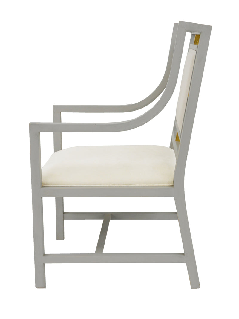 Francie Gray Dining Chair With Arms