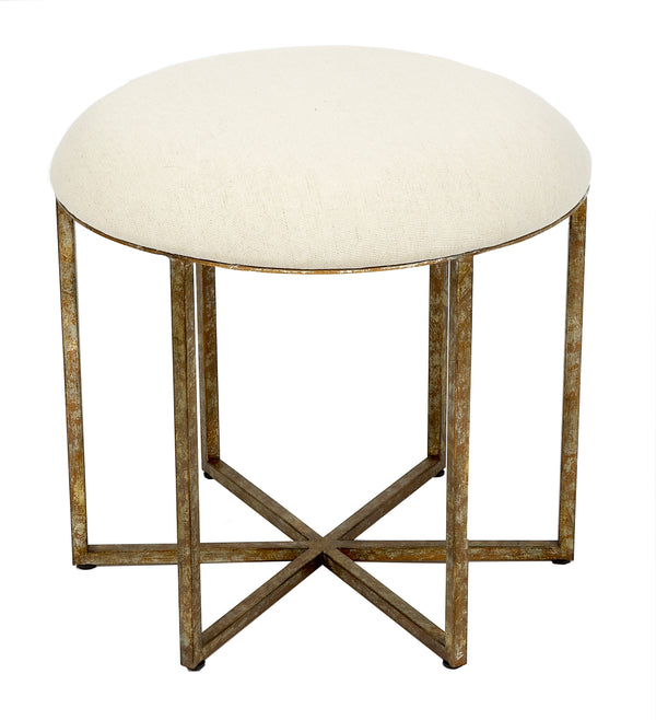 Circlet Round Stool with Gold Champagne Finish