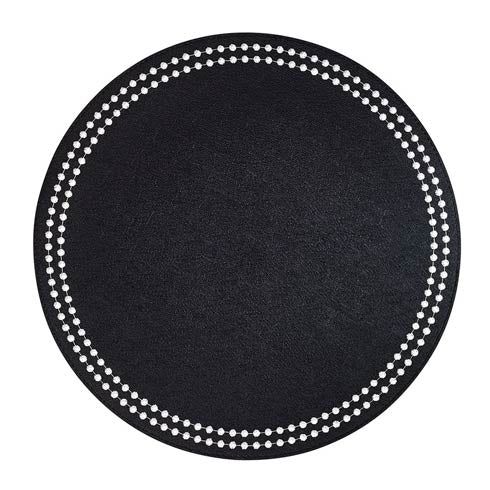 Black/White Washable Placemats - Set of 4