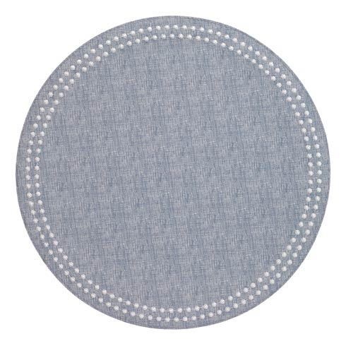 Blue Pearls Washable Placemats - Set of 4