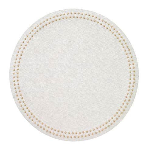 Pearls Antique White/Gold Placemats - Set of 4