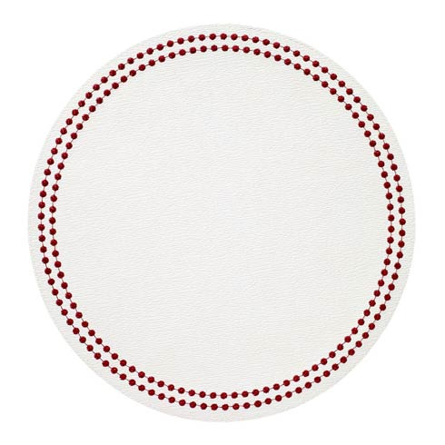 Ruby Pearls Washable Placemats  - Set of 4