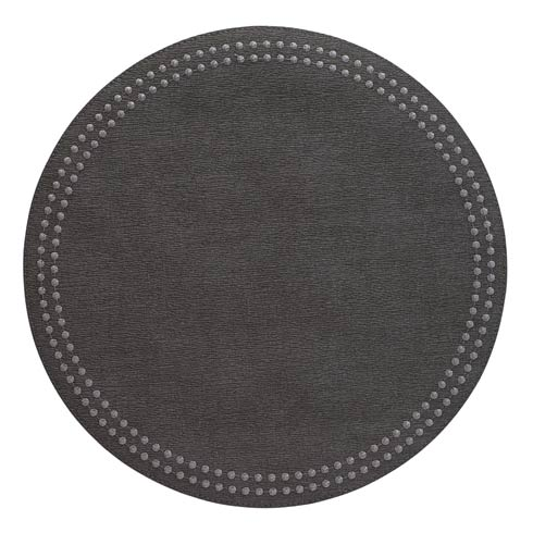 Charcoal Pearls Washable Placemats - Set of 4