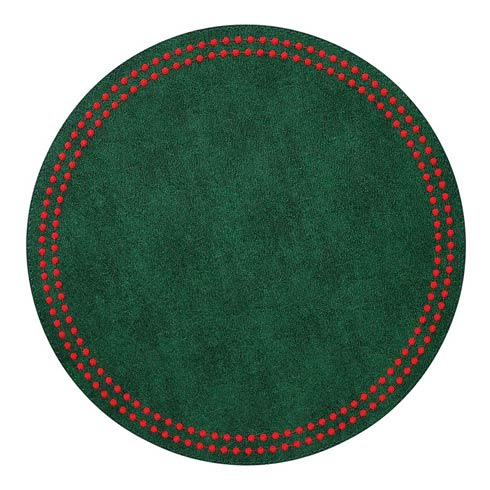 Green Christmas Pearls Washable Placemats - Set of 4