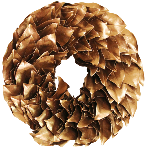 Lacquer Wreath - Gold