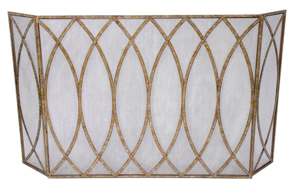 Champagne Gold Fireplace Screen