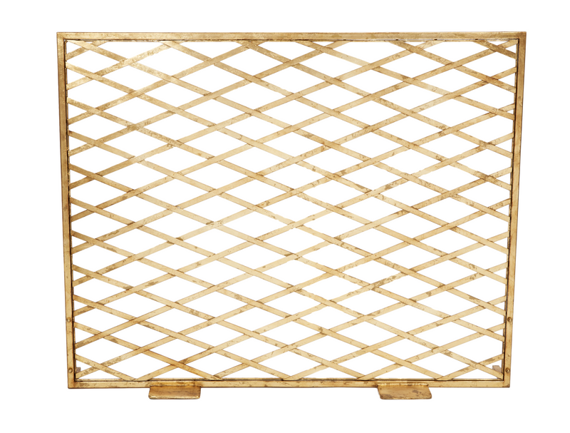 GOLDEN TRELLIS FIREPLACE SCREEN