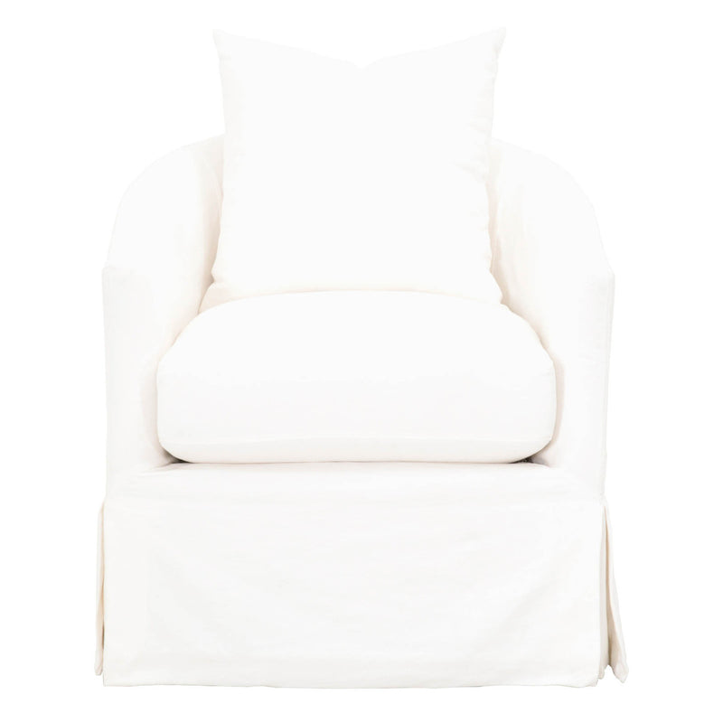 Kris Swivel Chair- Cream Crepe