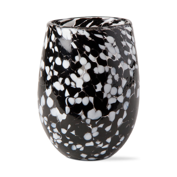 THE SPECKLED WINE GLASS (black)