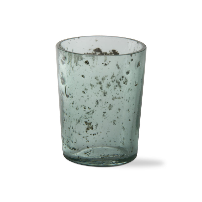 Mineral Glass Votive (green)