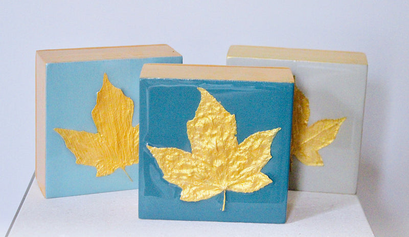 Gold Leaf Botanical - Teal