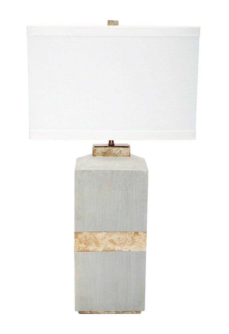 Maitre Table Lamp with Cement & Champagne Finish