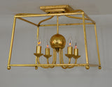 Gold Flush Ceiling Mount
