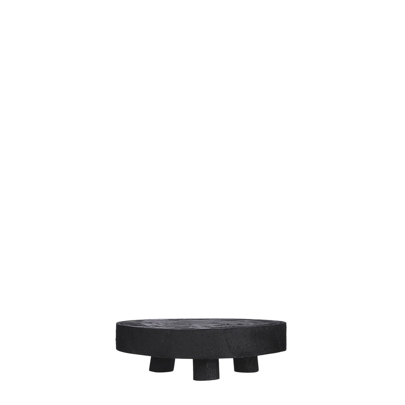 Medium Wooden Pedestal - Black