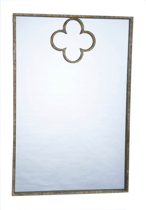 Gold Quatrefoil Mirror