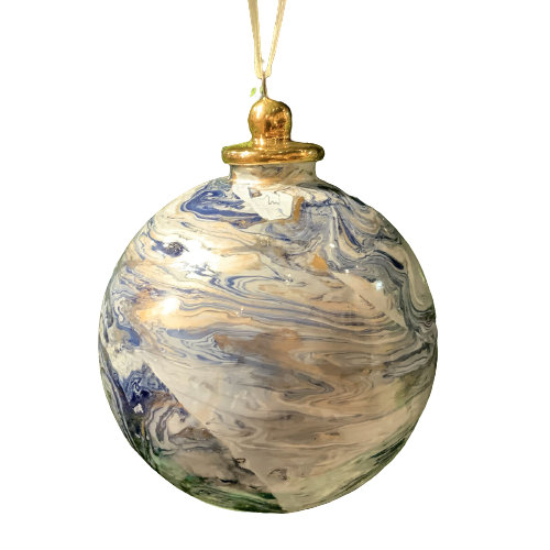 Holiday Marble Ornament
