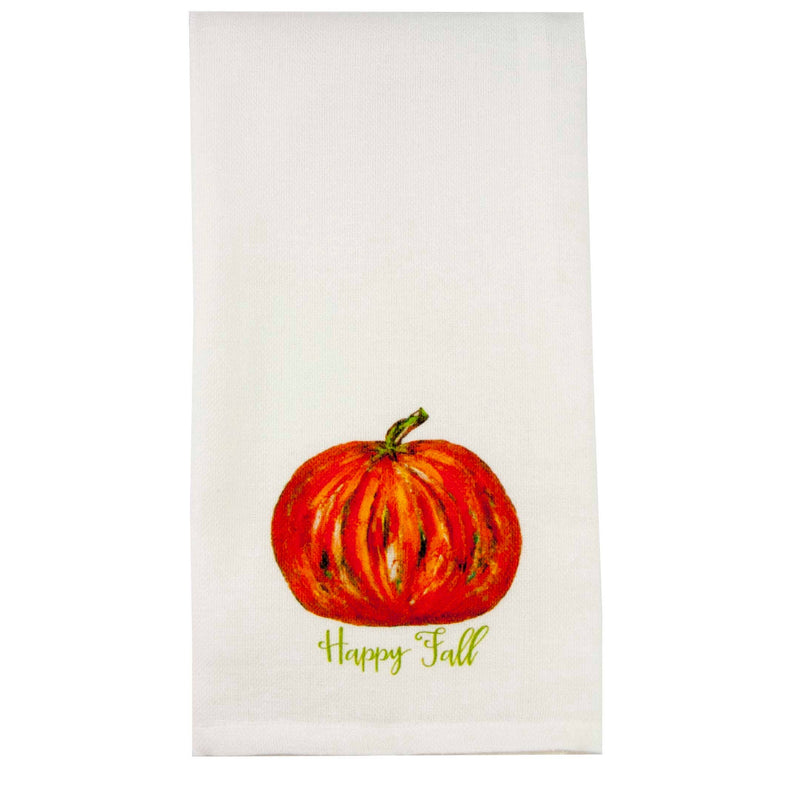 Pumpkin Happy Fall Dishtowel