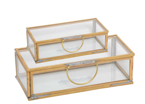 Set of 2 Glass Boxes