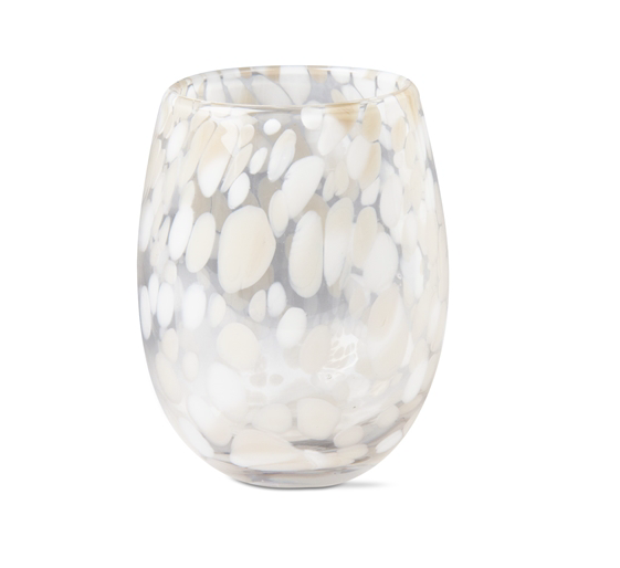 The Speckled Wine Glass (Taupe)