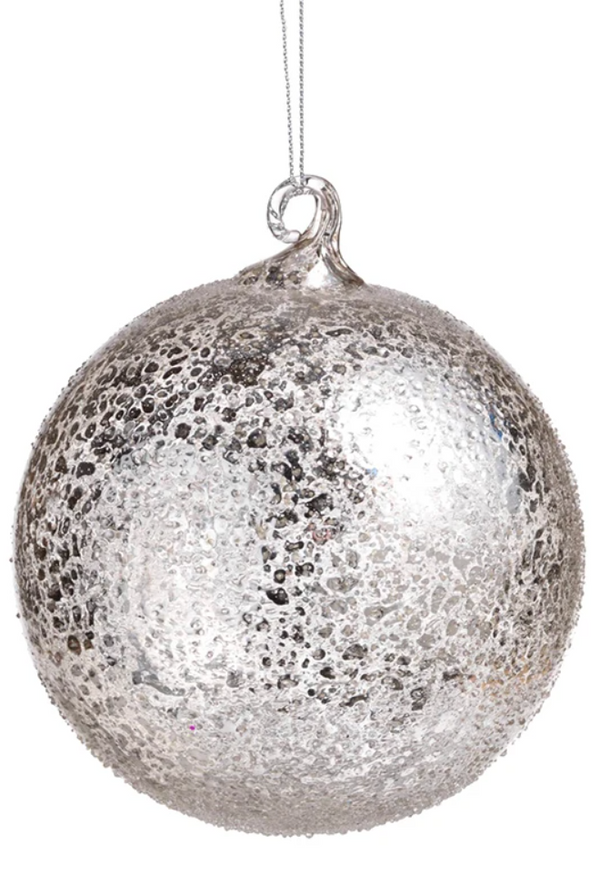 Silver Jolly Ornament- Large