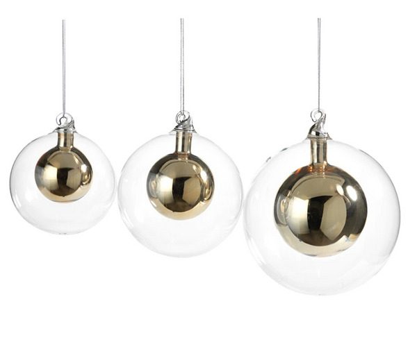 Gold Snow Ball Ornament- Large
