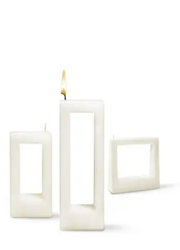 Alusi Multiflame Candle Quadra Due White, Unscented