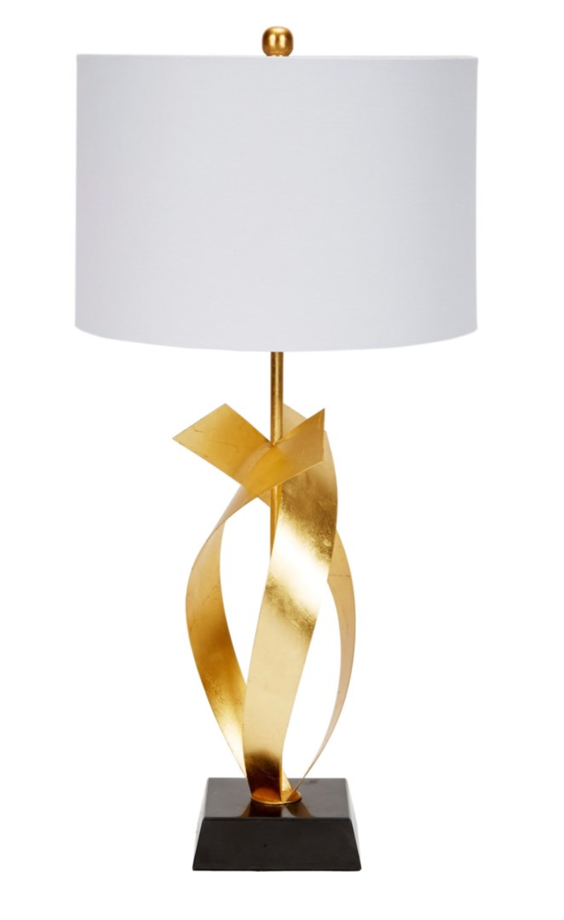 Gold Metal Twisted Lamp