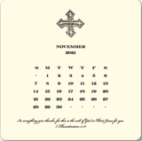 2021 Cross Calendar with Brass Easel
