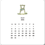 2021 Gardener's Calendar with Brass Easel