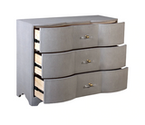 Plymouth Grey Grasscloth Chest