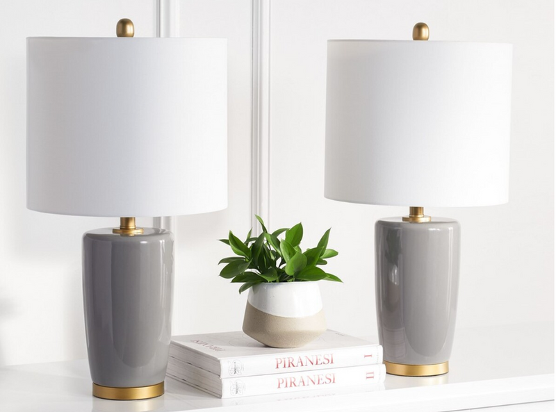 Carrie Grey Lamp- Set of Two