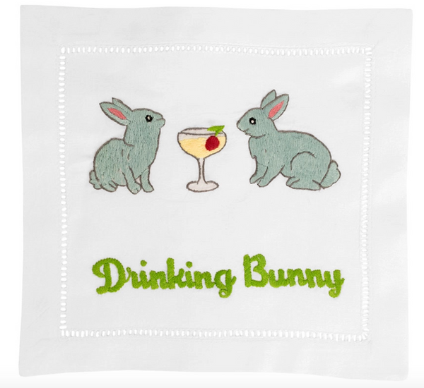 Drinking Bunny Cocktail Napkins (Set of 4)
