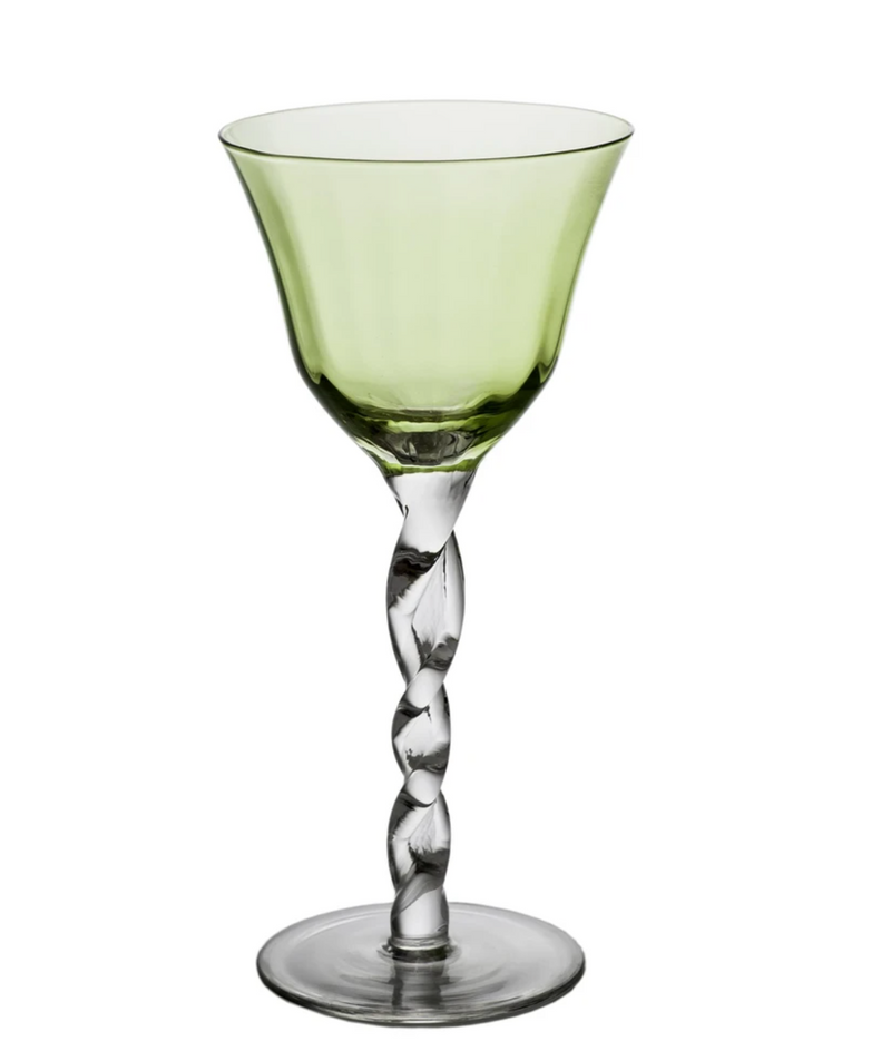 Green Adriana Wine Glass (Set of 4)