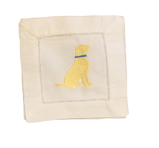 Yellow Lab Cocktail Napkins (Set of 4)