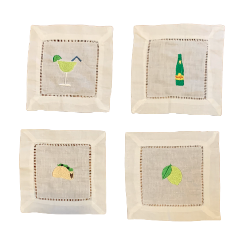 Margarita Mix Cocktail Napkins (Set of 4)