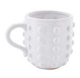 Dotted White Glazed Mug
