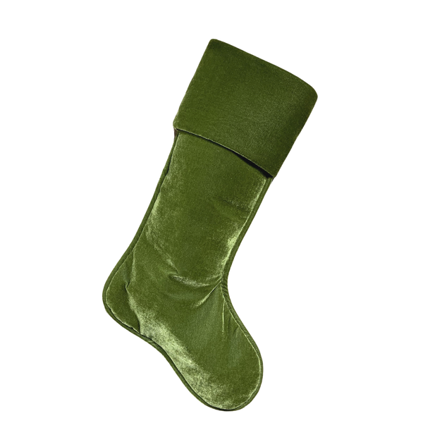"Velvet Stocking 23"" - Green"