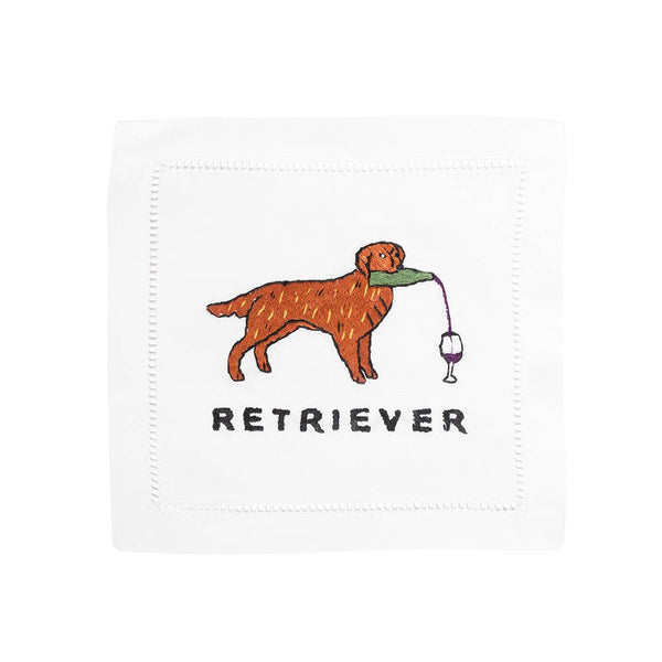 Golden Retriever Cocktail Napkin - Set of 4
