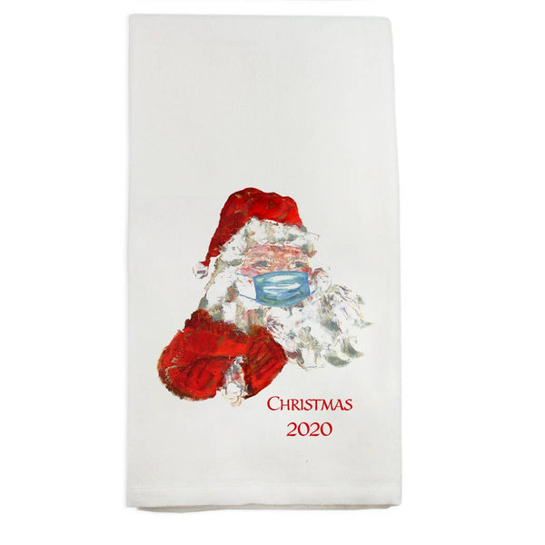 Santa Mask Dish Towel