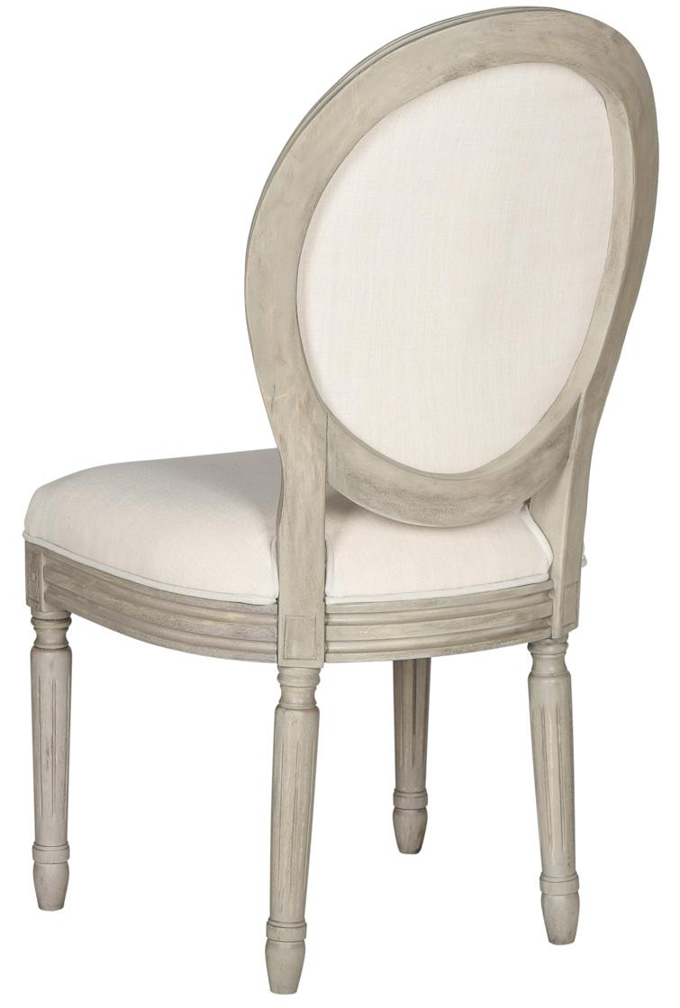 French Linen Oval Dining Chair (Set of two)