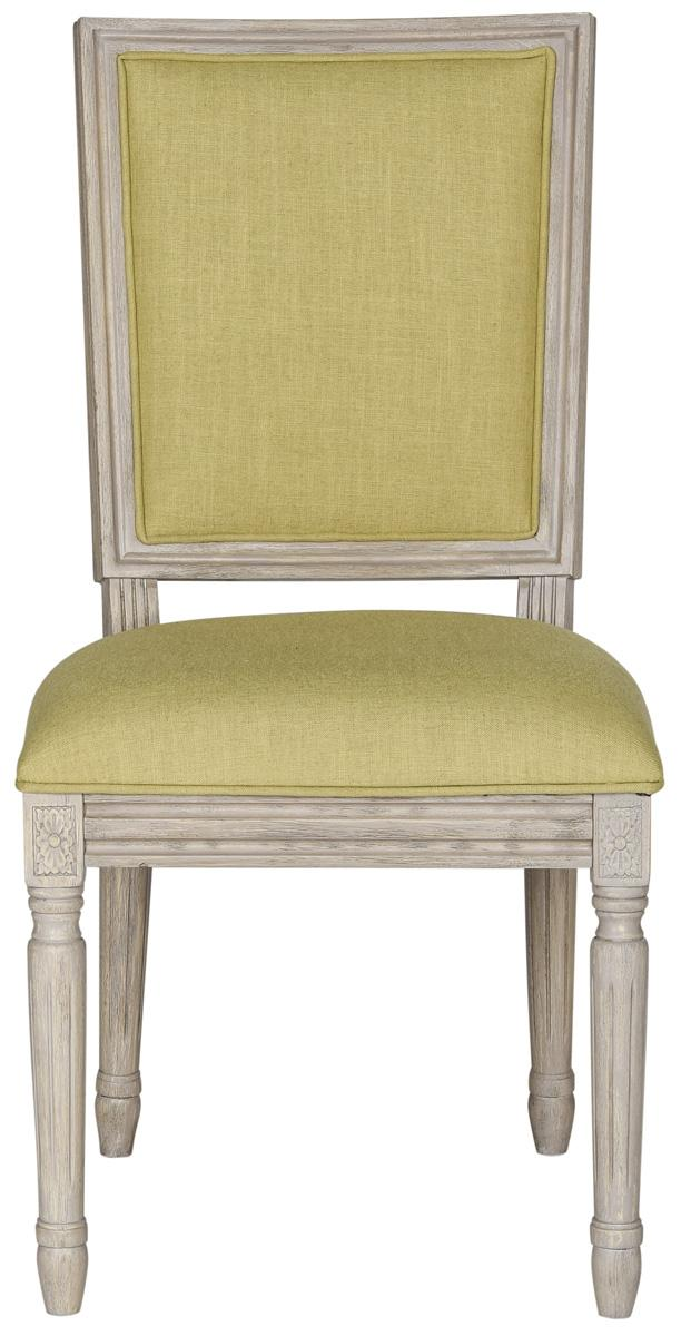 French Linen Green Dining Chair (set of two)