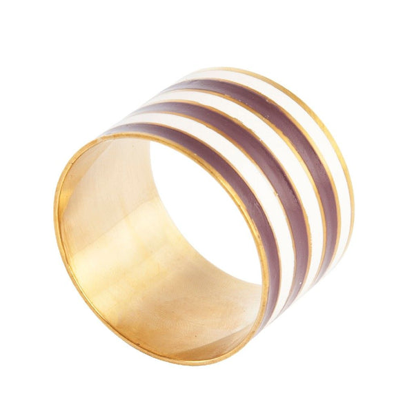 Striped Napkin Ring: Chocolate
